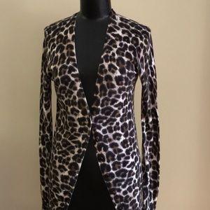 Cardigan Leopard Print